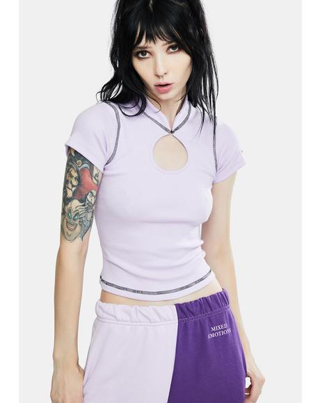 Circle Lilac Top