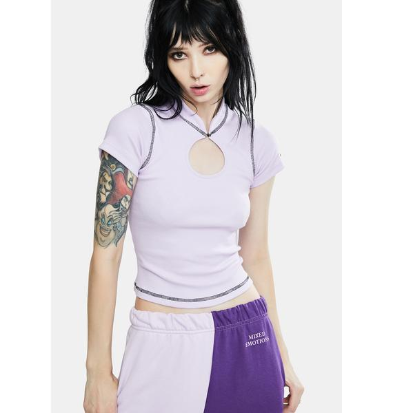 Local Heroes Circle Lilac Top
