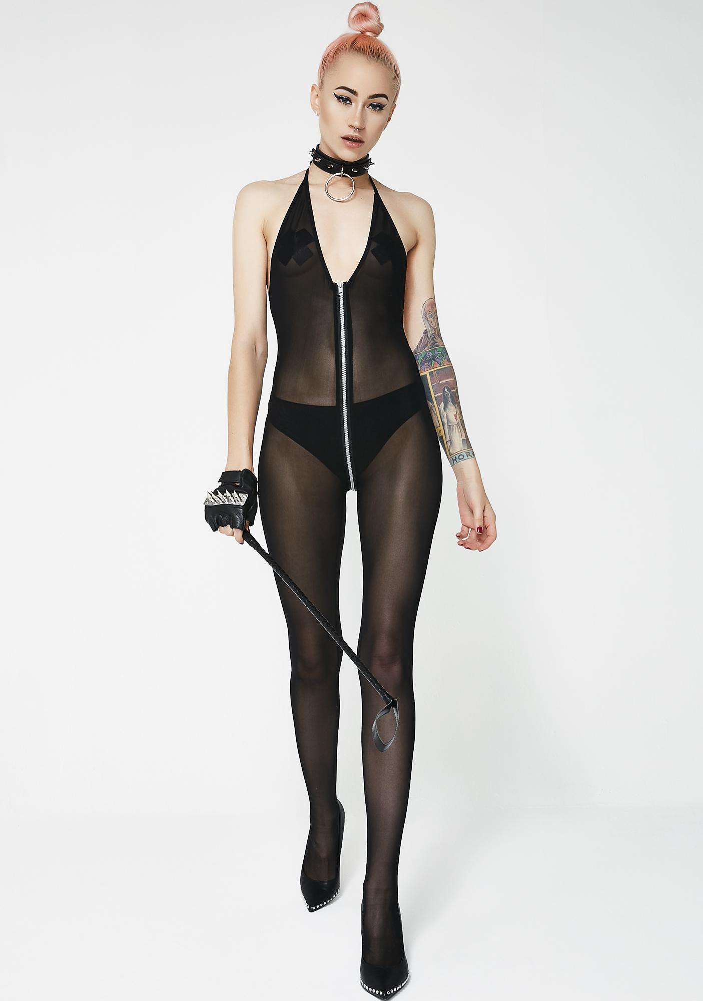 Kiki Riki Make Ur Own Rules Zipper Bodystocking