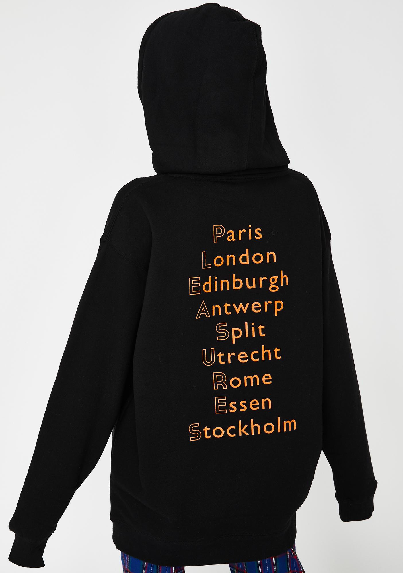 Pleasures Black Europe 92 Graphic Hoodie