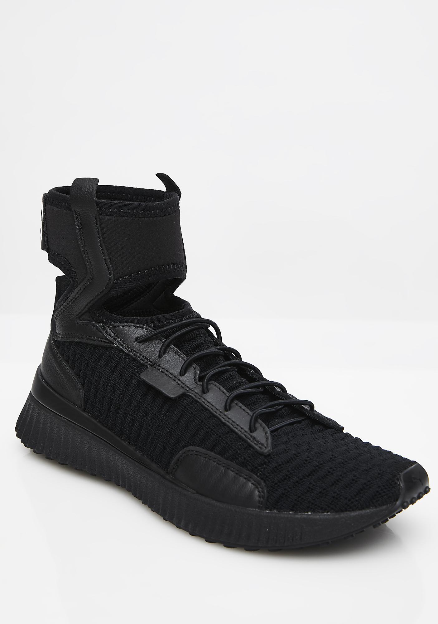 reputable site 07e6e b5ee9 Dark FENTY PUMA By Rihanna Trainer Mid Geo Sneakers