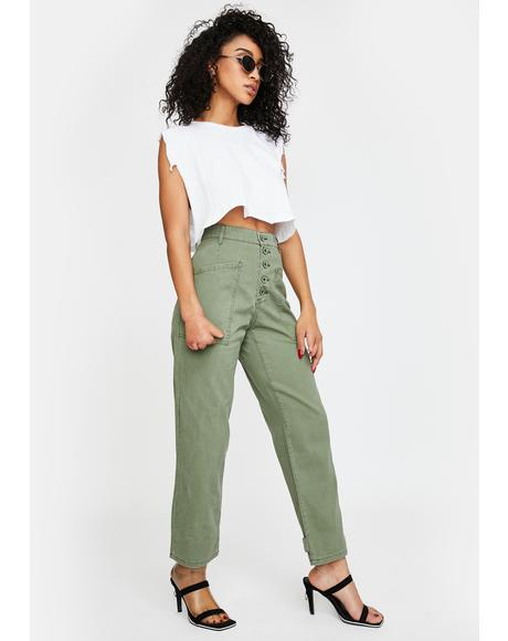 Tammy High Rise Cargo Jeans