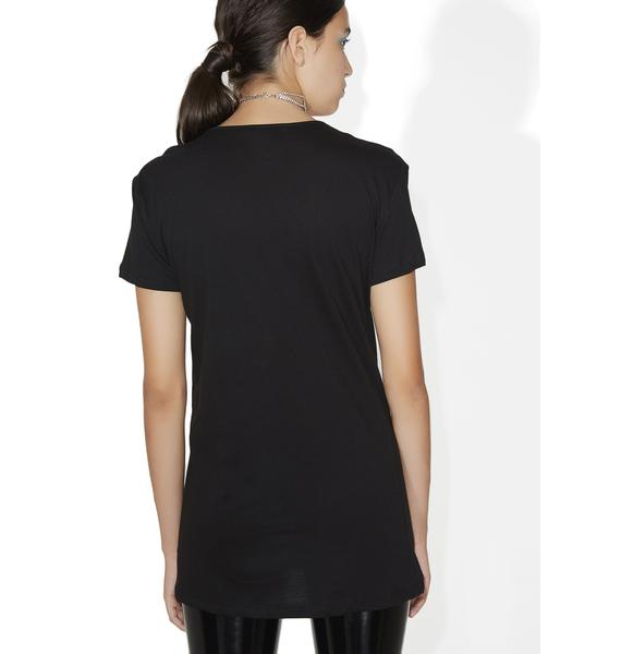 Cross Paths Lace-Up Tee