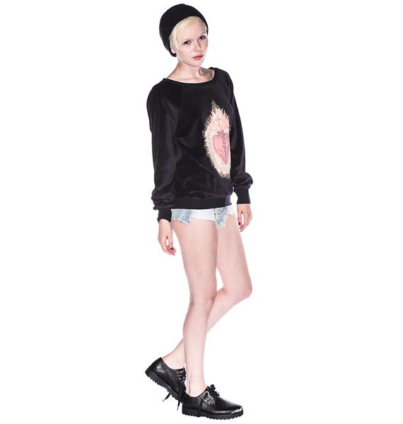 Wildfox Couture Burning Heart Barcelona Pullover