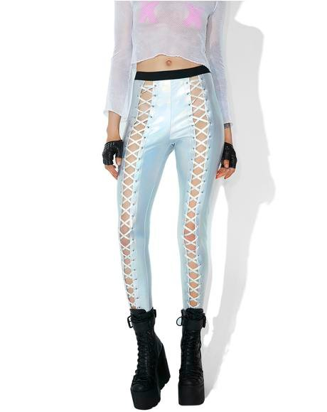 Holographic Nancy Corset Leggings