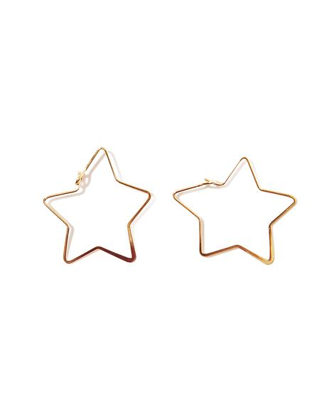 Lucky Star Hoop Earrings