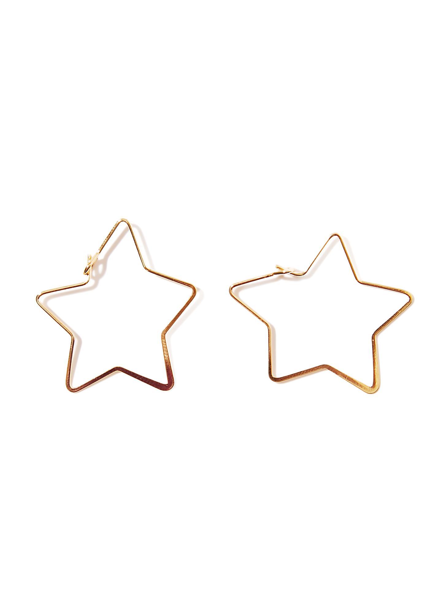 Lucky Star Hoop Earrings