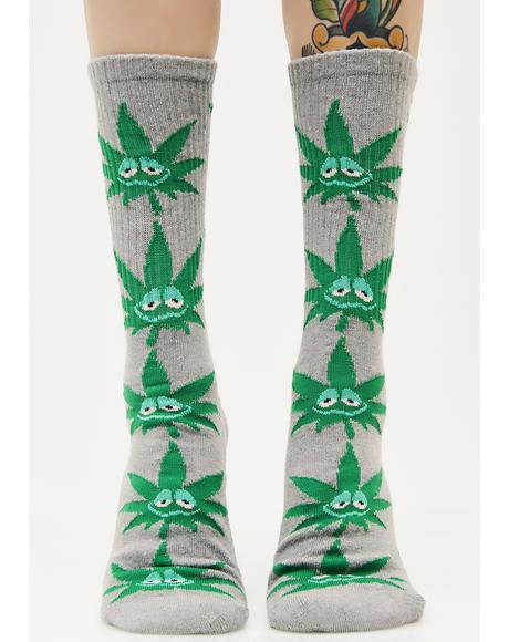 Green Buddy Crew Socks