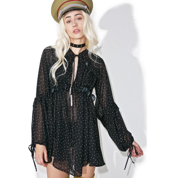 For Love & Lemons Truffles A-Line Dress