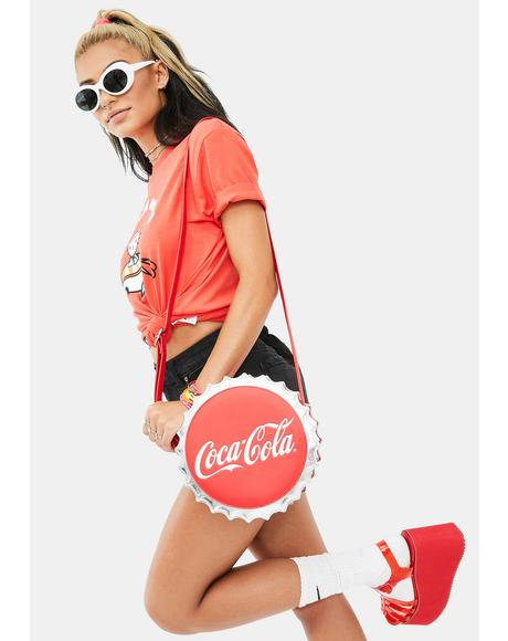 Coca Cola Bottle Cap Crossbody Bag