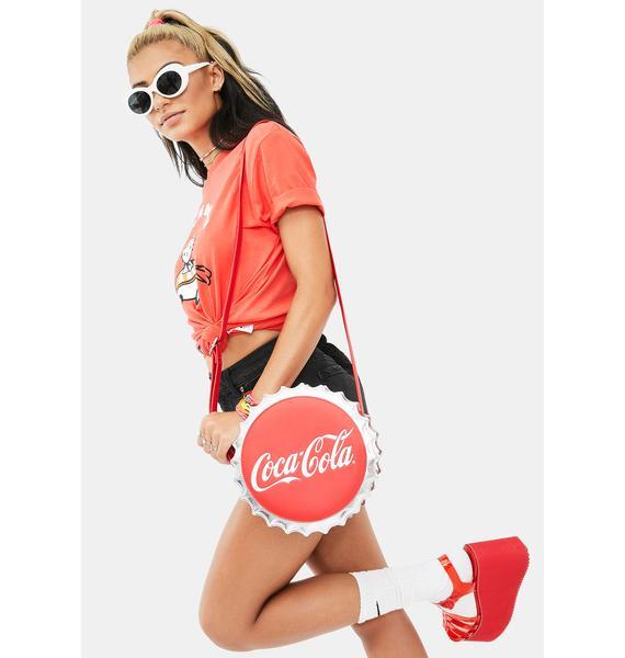 Loungefly Coca Cola Bottle Cap Crossbody Bag