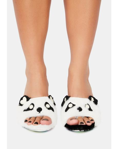 Black & White Wiggle Bear Mules