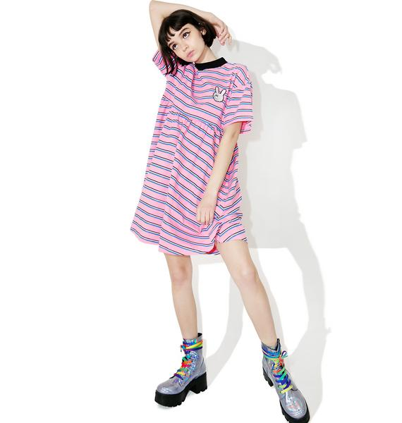 Lazy Oaf Striped Bunny Dress