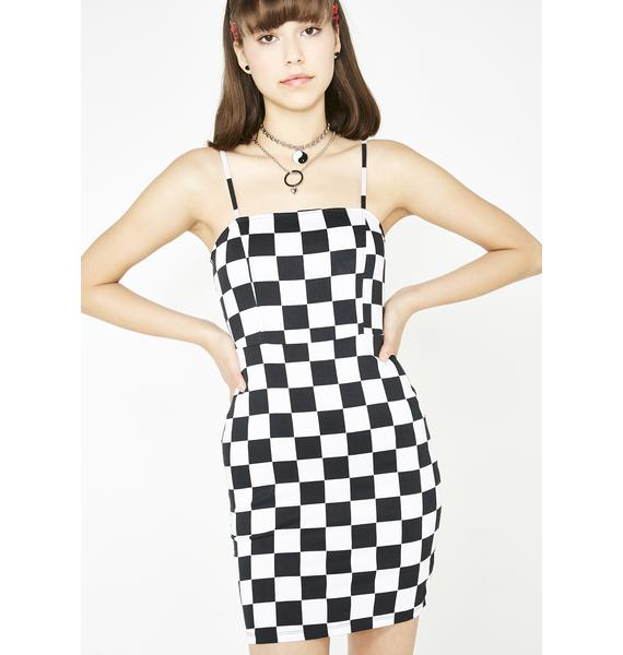 Motel Checkered Boco Dress
