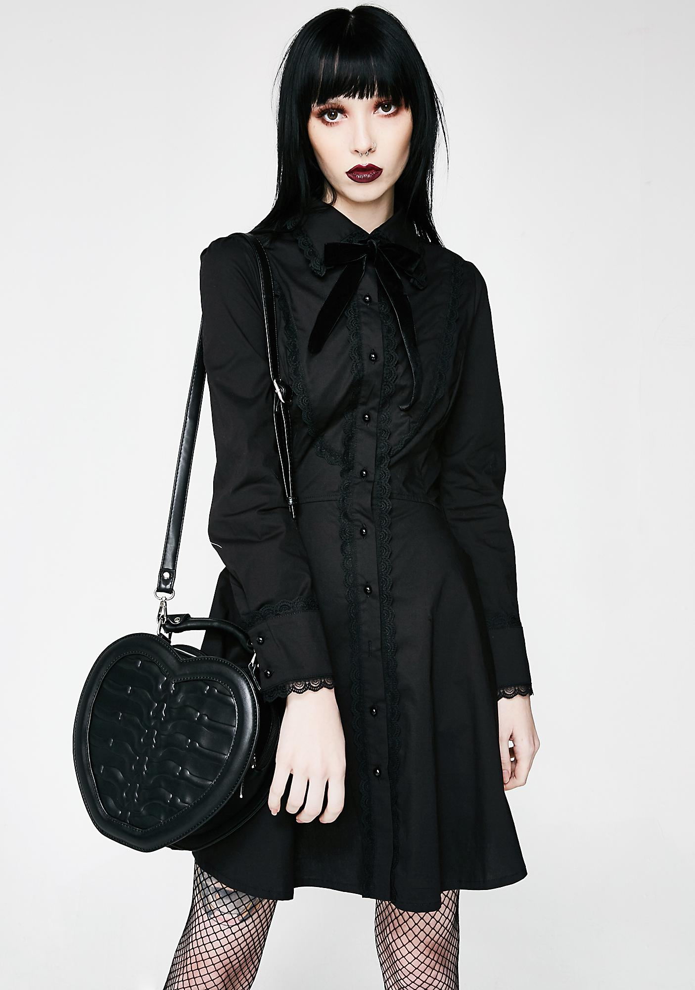 Killstar Black Heartz Handbag
