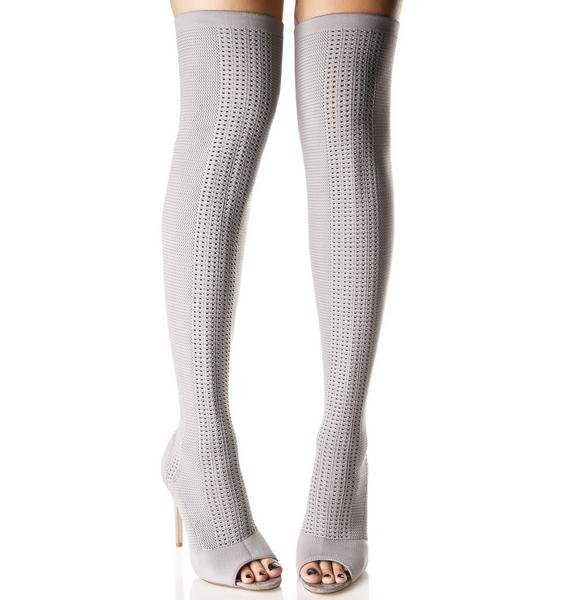 Smoke Myth Thigh-High Sock Boots