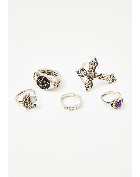 Witchy Fire Ring Set