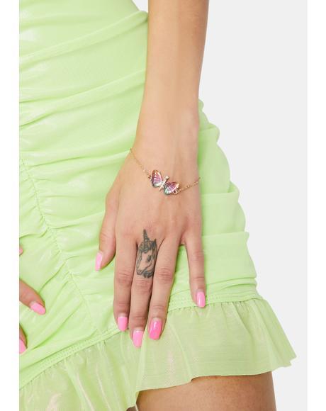 Flutter Away Butterfly Bracelet