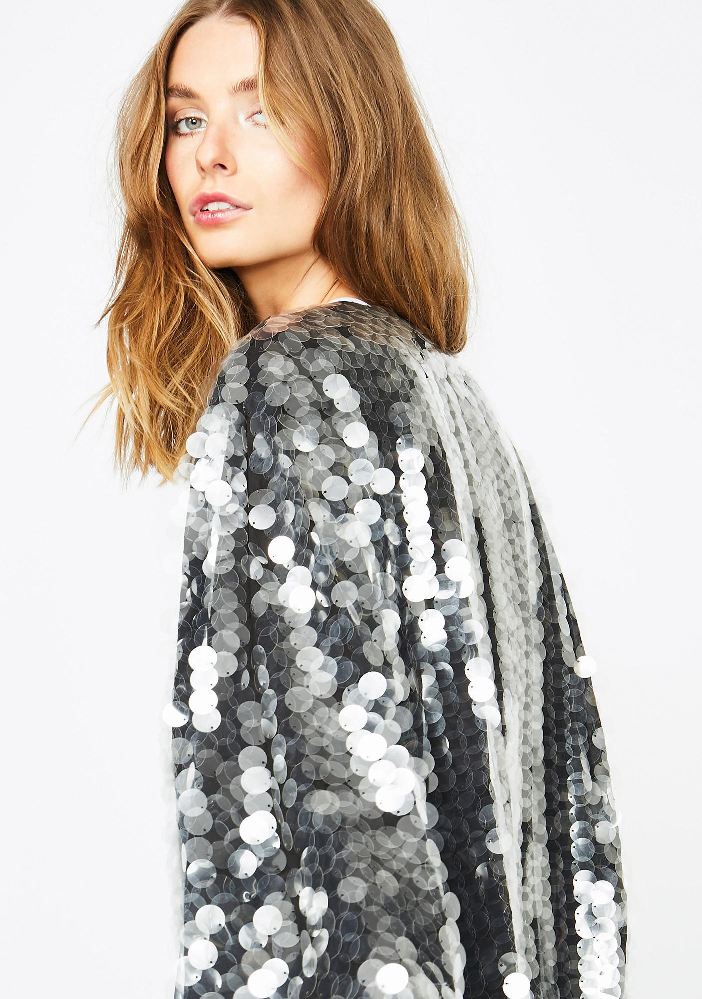 Club Exx Smokescreen Sequin Kimono