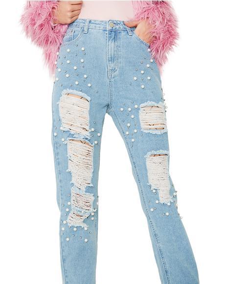Mermaid Dreamz Distressed Jeans