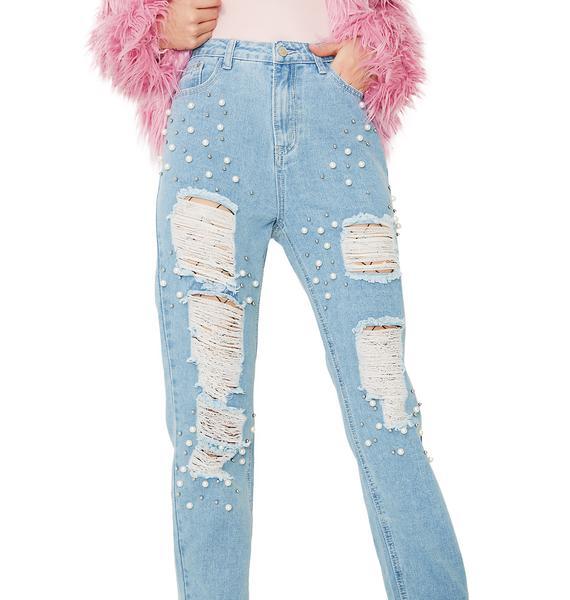 Glamorous Mermaid Dreamz Distressed Jeans