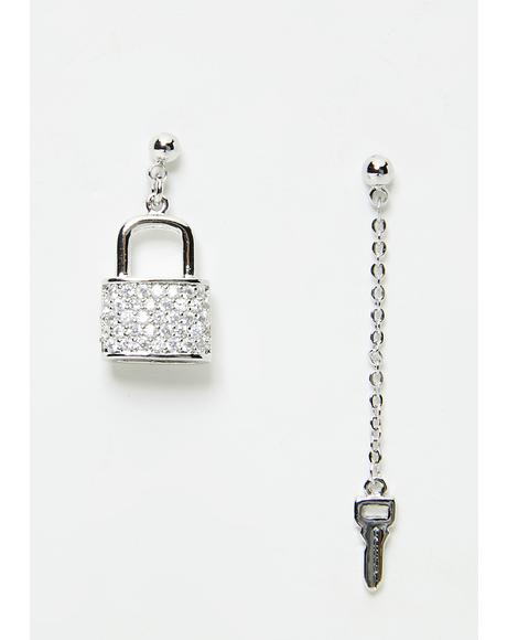 Unlocked Love Charm Earrings