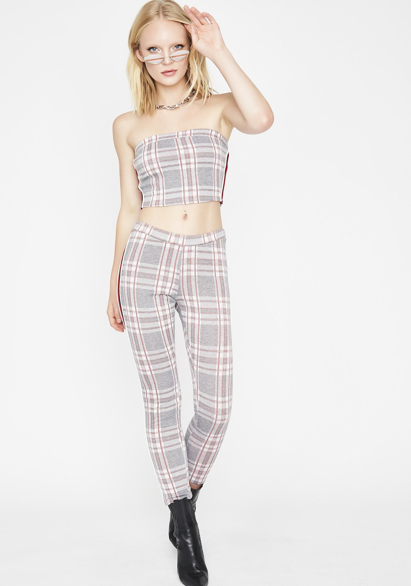 Stoned Breakin Habits Plaid Set by Love Vintage