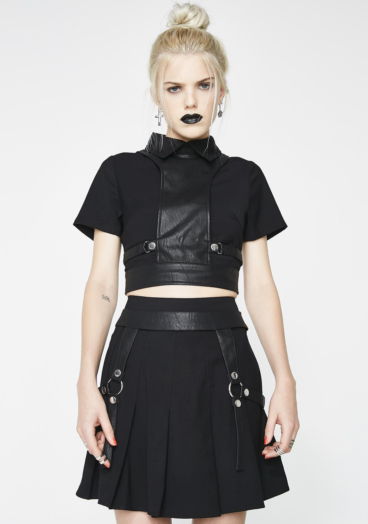 Disturbia Alice Harness Skirt