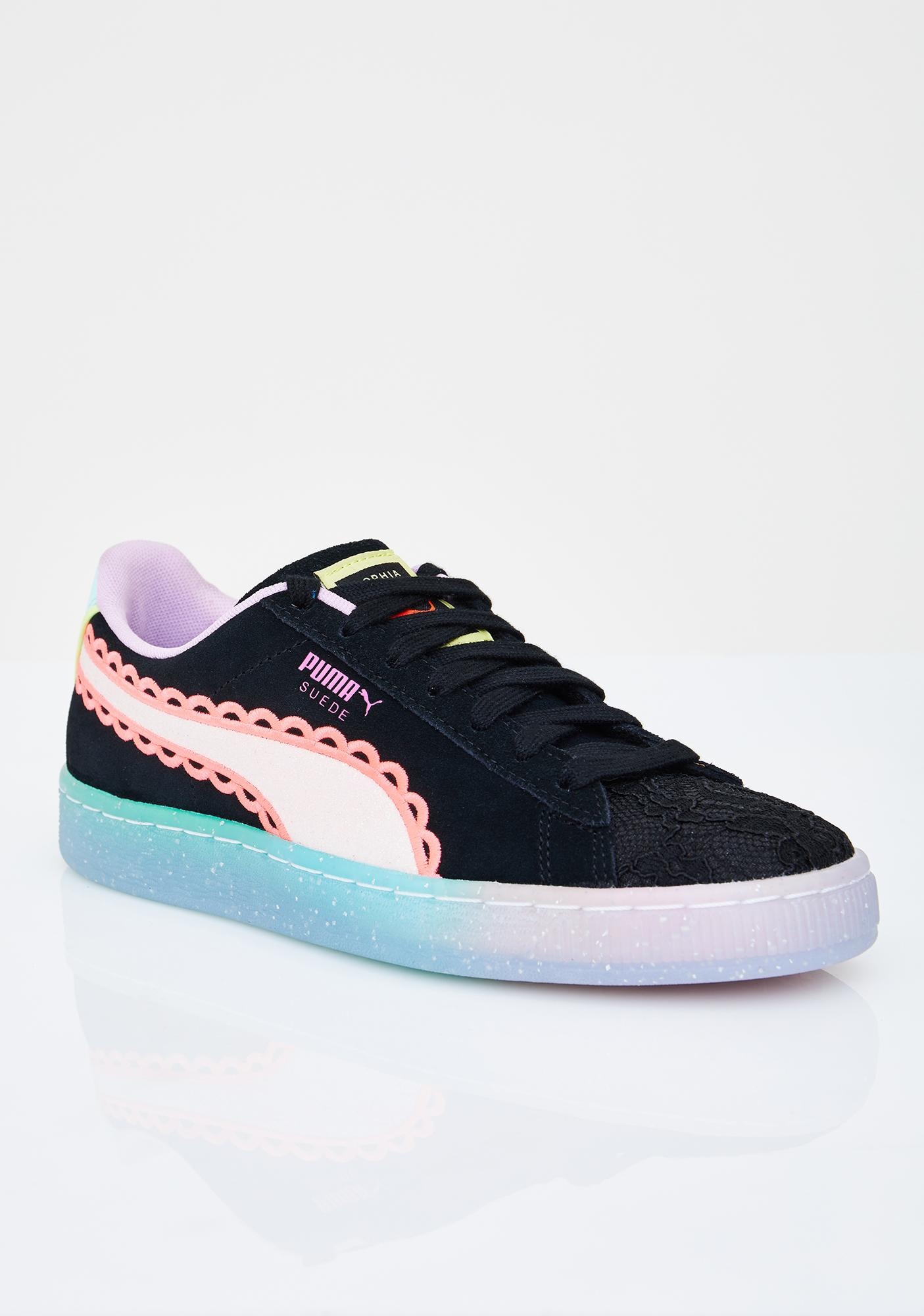 PUMA Fiery Coral Suede Sophia Webster Sneakers