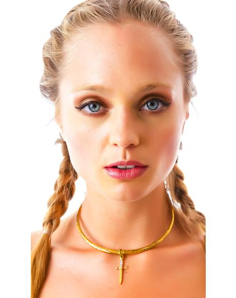 The Palladium Gold Statement Necklace