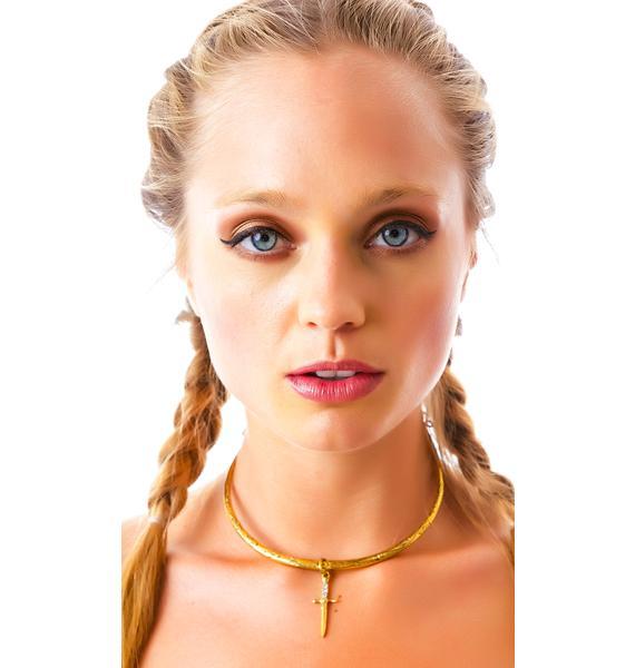Vanessa Mooney The Palladium Gold Statement Necklace