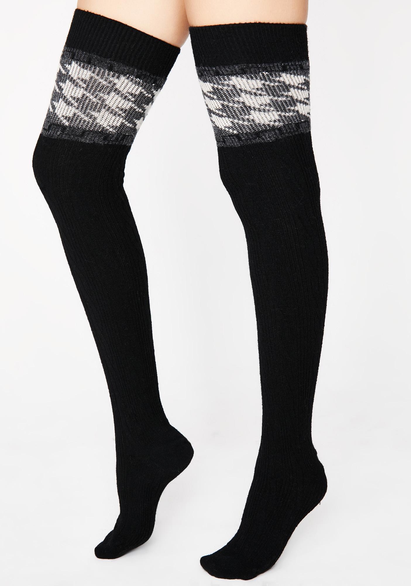 Prepped Up Thigh High Socks