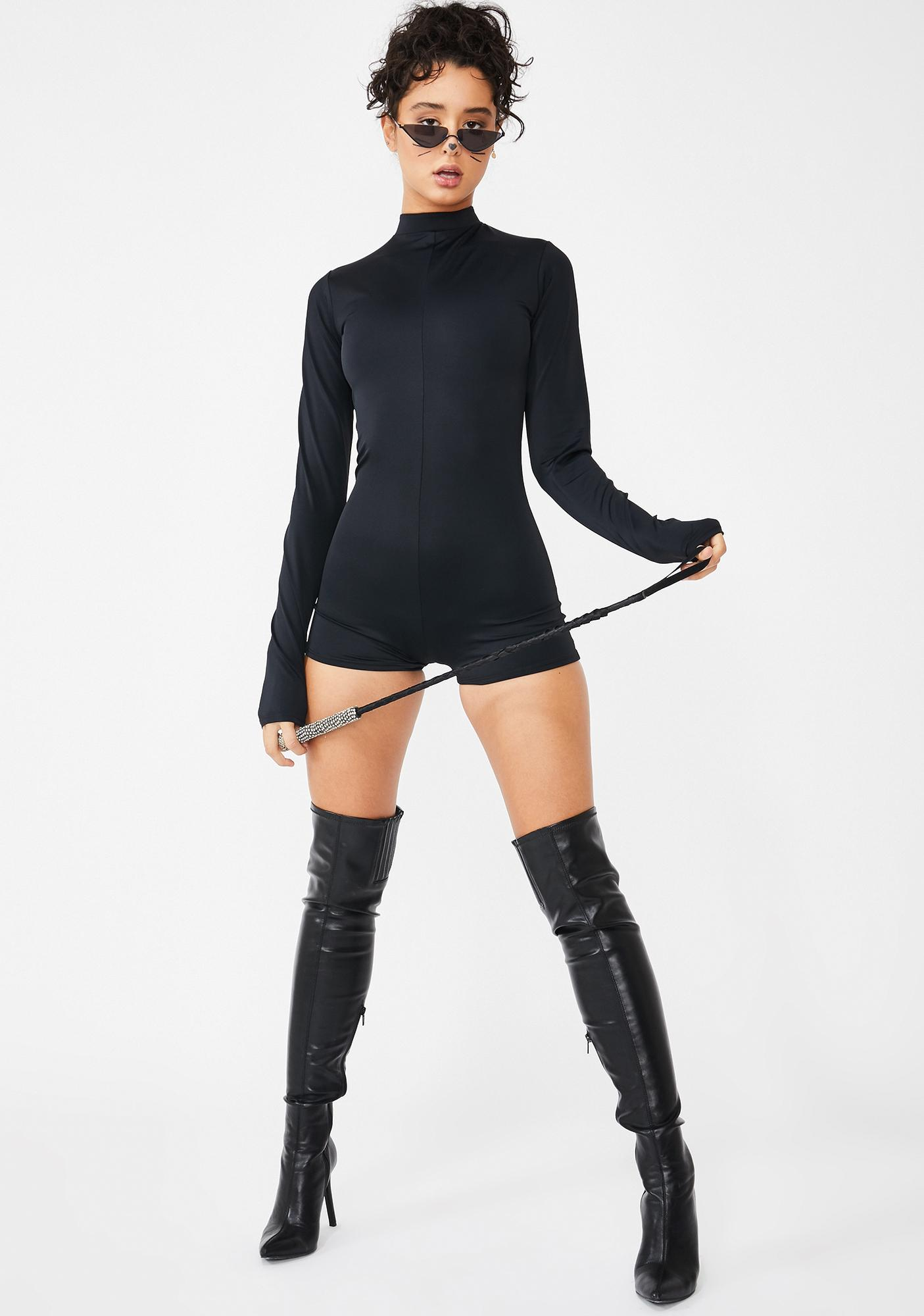 Kitty Gal Long Sleeve Playsuit