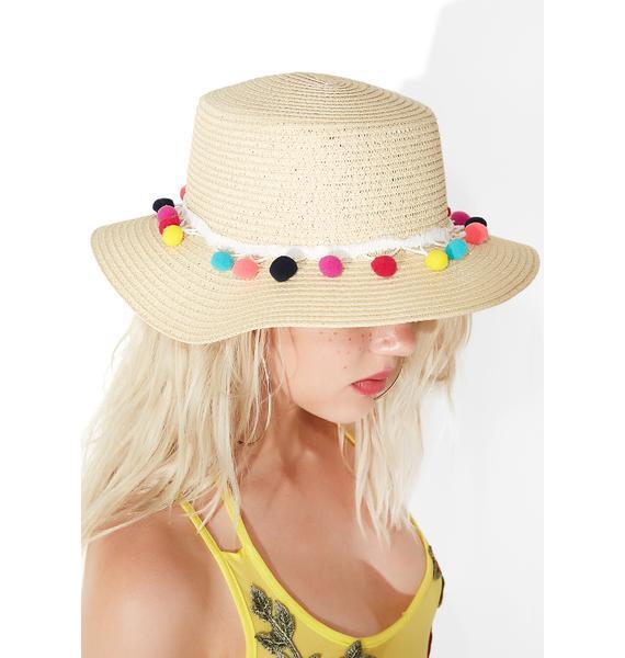 Sunny Side Up Pom-Pom Hat