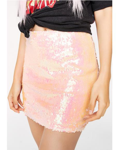 Itz Peachy Mini Skirt