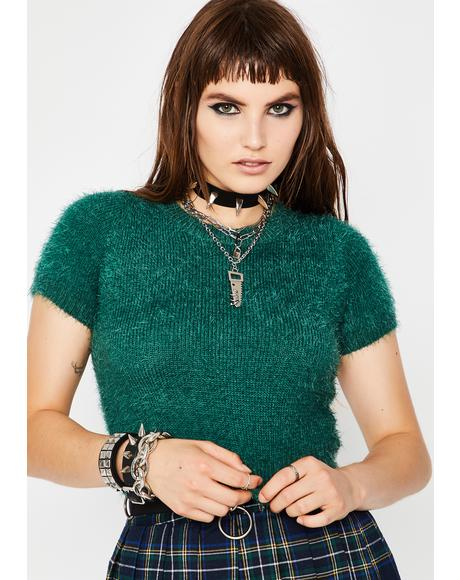 Deep With Envy Fuzzy Sweater