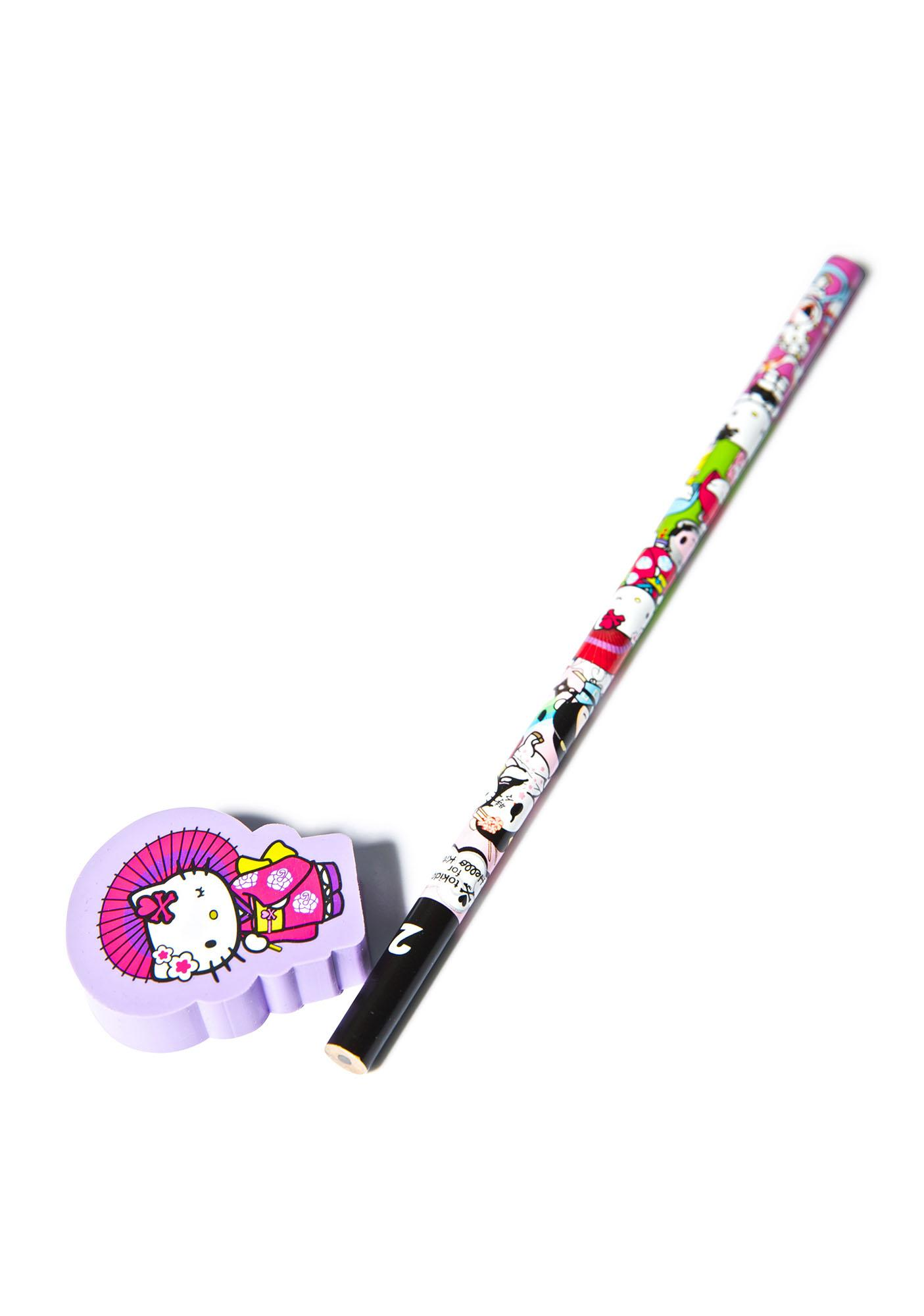 Tokidoki x Hello Kitty Geisha Pencil