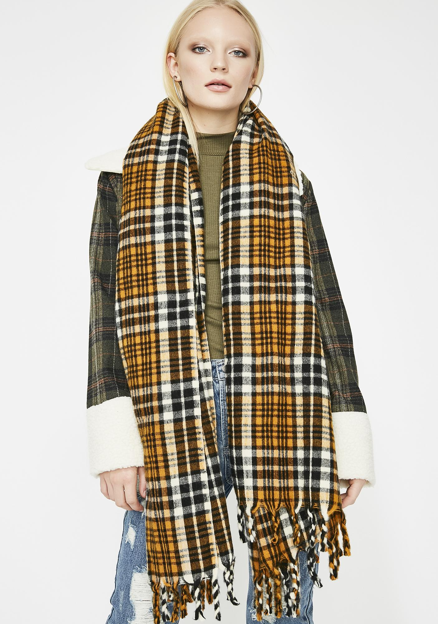 Wild In The Woodlands Plaid Scarf