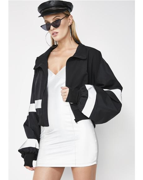 Dark All Eyes On Me Cropped Jacket