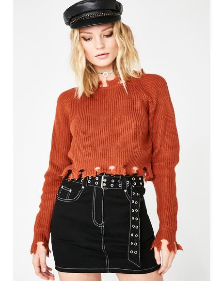 Get Live Belted Mini Skirt