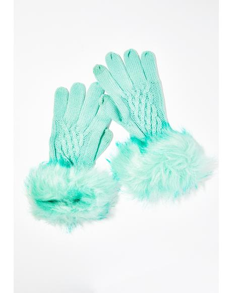 Lux Fantasy Fur Trim Gloves