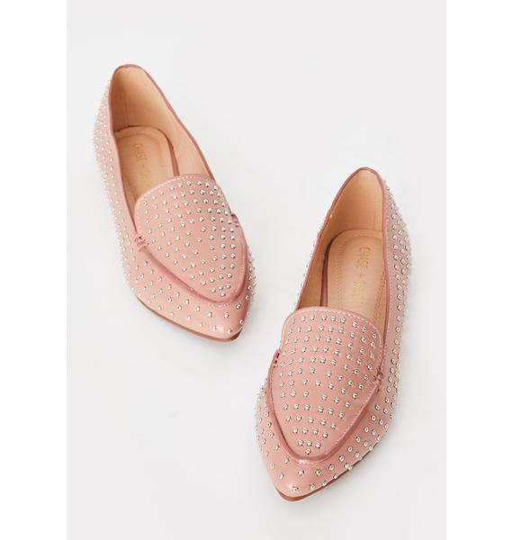 Mauve Lady In The Streets Ballet Flats