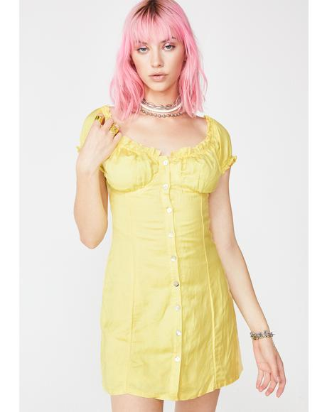 Sunny So Serene Linen Dress