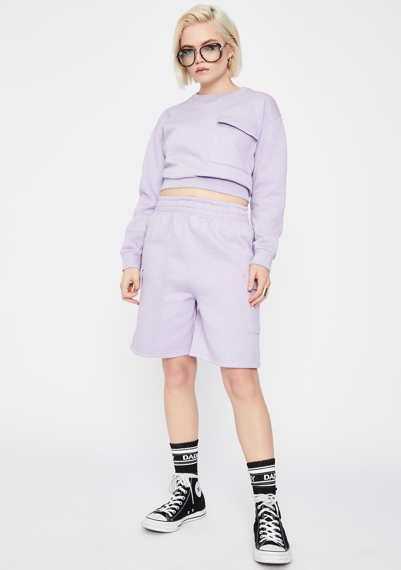 Daisy Street Boxy Sweatshirt With Pocket
