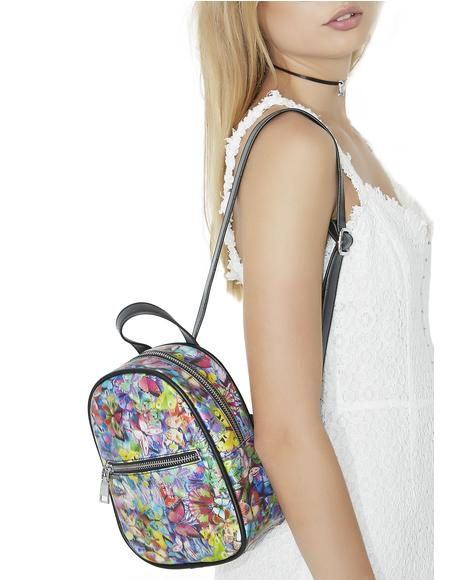 Butterflyz Holographic Mini Backpack