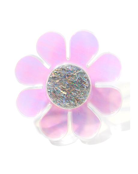 Holographic Flower Ring