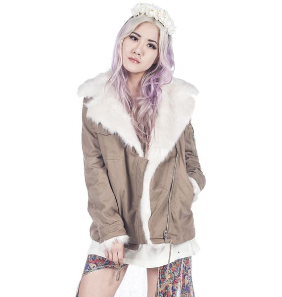 UNIF Army Sherpa Jacket