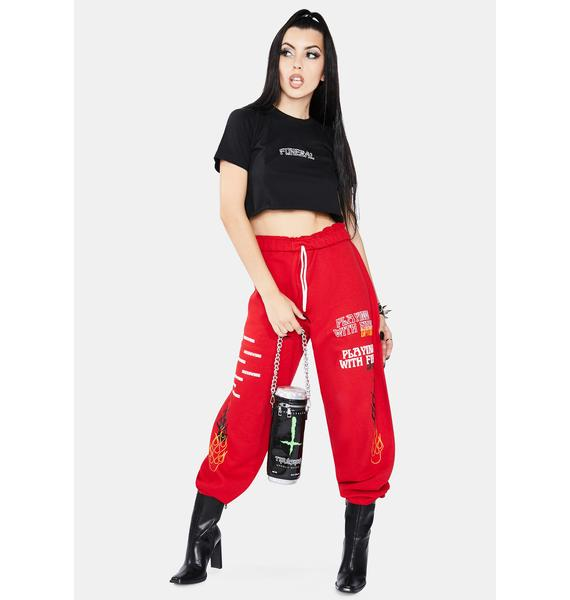 MOODSWINGS Playing With Fire Sweatpants