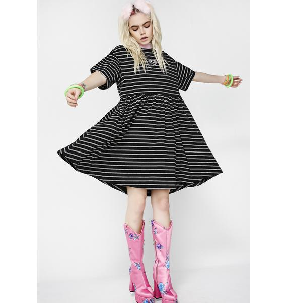 Lazy Oaf Tiny Stripe Sally Sack Dress
