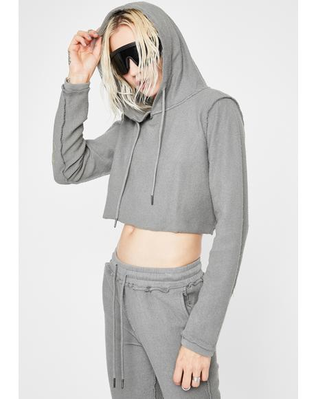 Switchin' Up Crop Hoodie